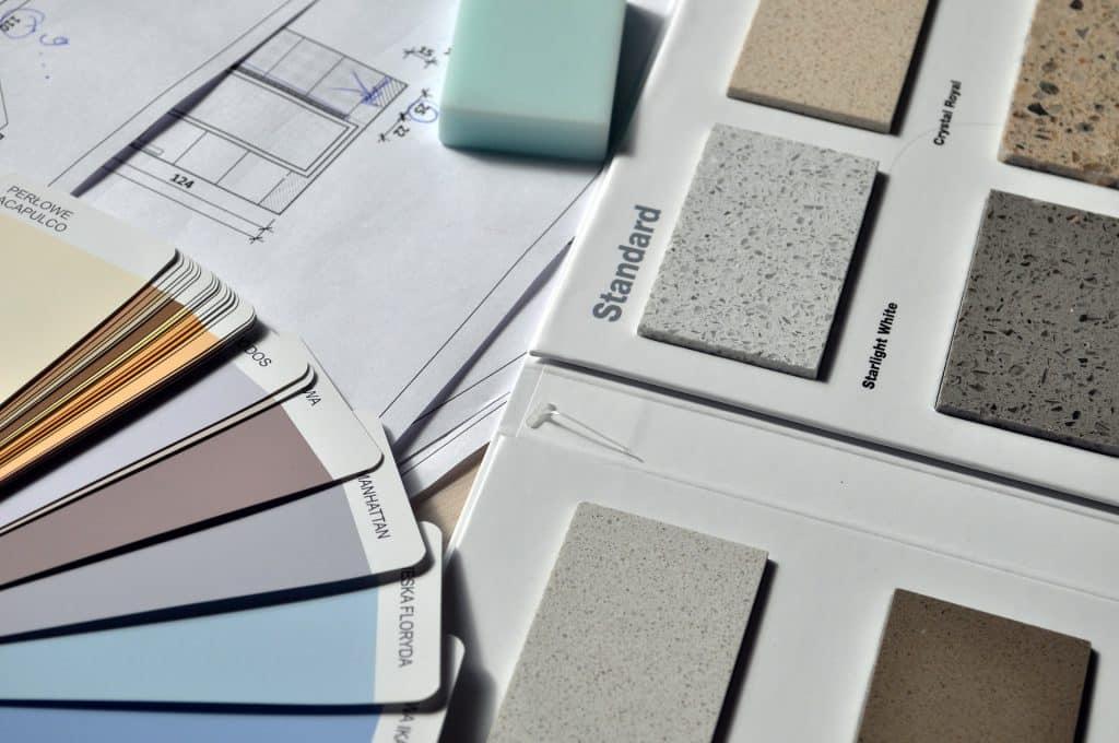 Nuancier couleur et texture